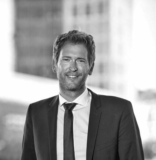 Schwarz-Weiß-Portrait von Henning Vöpel