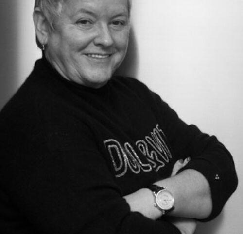 Schwarz-Weiß-Portrait von Paula Bosch.