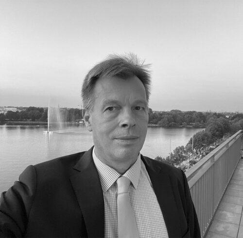 Schwarz-Weiß-Portrait von Conrad Hinrich von Donner.