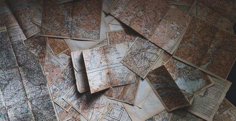Antike Landkarten.