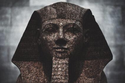 Ägyptische Statue.