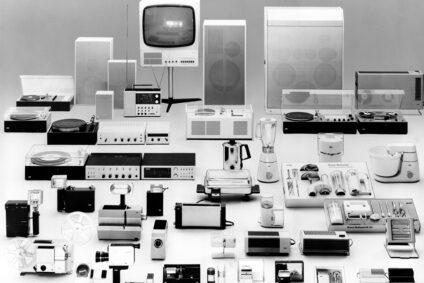 Elektrogeräte von Braun nach dem Design von Dieter Rams.