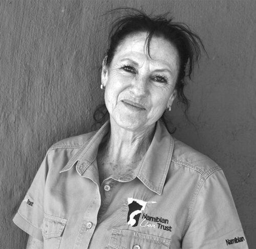 Porträt Tammy Hoth-Hanssen, Gründerin des Namibian Lion Trust