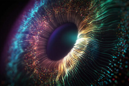 Bild des Augeninneren, mit dem wir ins Morgen blicken
