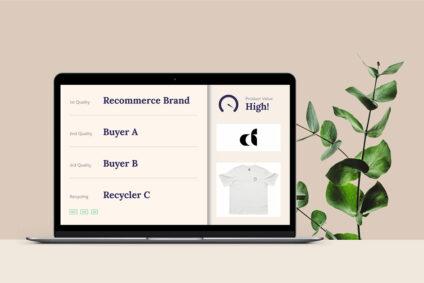 Laptop mit Screenshot des Circular Fashion-Konzepts.
